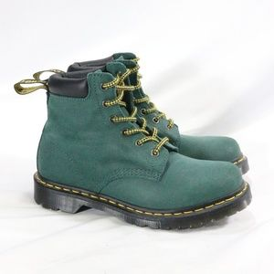 DR. MARTENS 939 Teal 6 Eye Padded Collar Boots